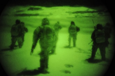 Afghan National Army commandos conduct an operation to disrupt a Taliban network in Saydabad district, Wardak province, Afghanistan; Photo by MC3 Sebastian McCormack, US DoD