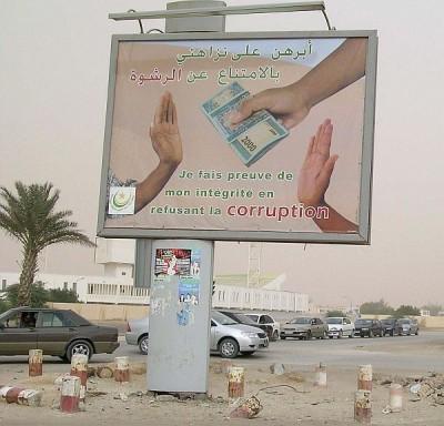 Bilboard v Mauretánii; via Wikimedia Commons