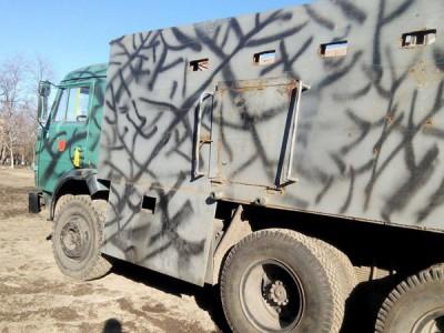 Opancéřované nákladní vozidlo; Foto archiv Tomáše