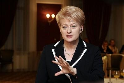 Presidentka Litvy Dalia Grybauskaite; Zdroj Wikipedia Commons