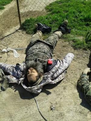 Zabitý bojovník Islámského státu. Foto: archiv dobrovolníka