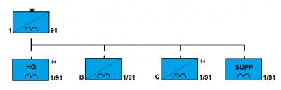 Organizace úkolového uskupení 1/91 CAV