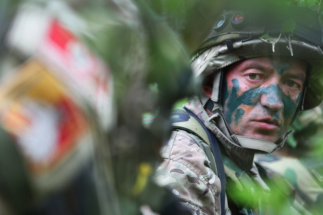 Voják Černé Hory na cvičení  Immediate Response 2012. Foto: Flickr