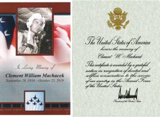 Clement William Machacek – Američan se srdcem Čecha