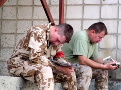 Čeští vojáci v Camp Doha v Kuvajtu | Czech soldiers at Camp Doha in Kuwait (Foto František Šulc)