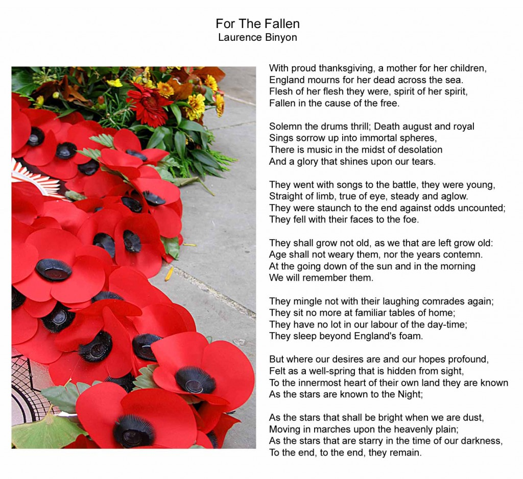 for the fallen by laurence binyon essay