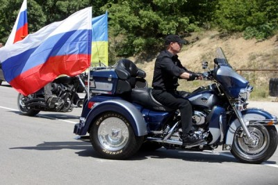 Vladimir Putin on a Harley Trike, Sevastopol, Ukraine (2010); Source premier.gov.ru
